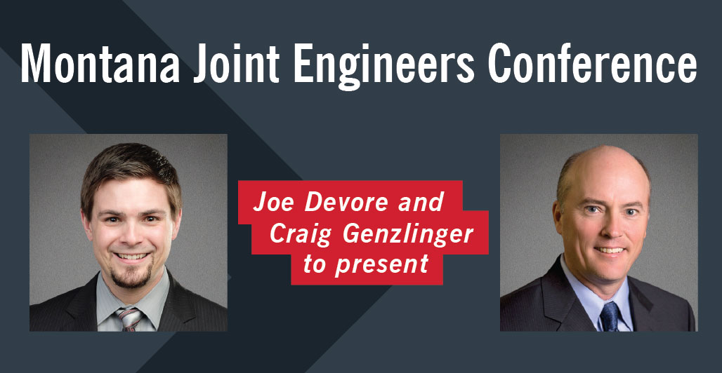 Joe Devore and Craig Genzlinger to present at Joint Engineers Conference - JEC